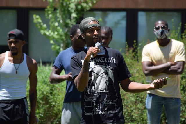 David Hood speaks at Grand Junction teach-in on racial justice